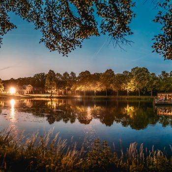 Dinner on a lake