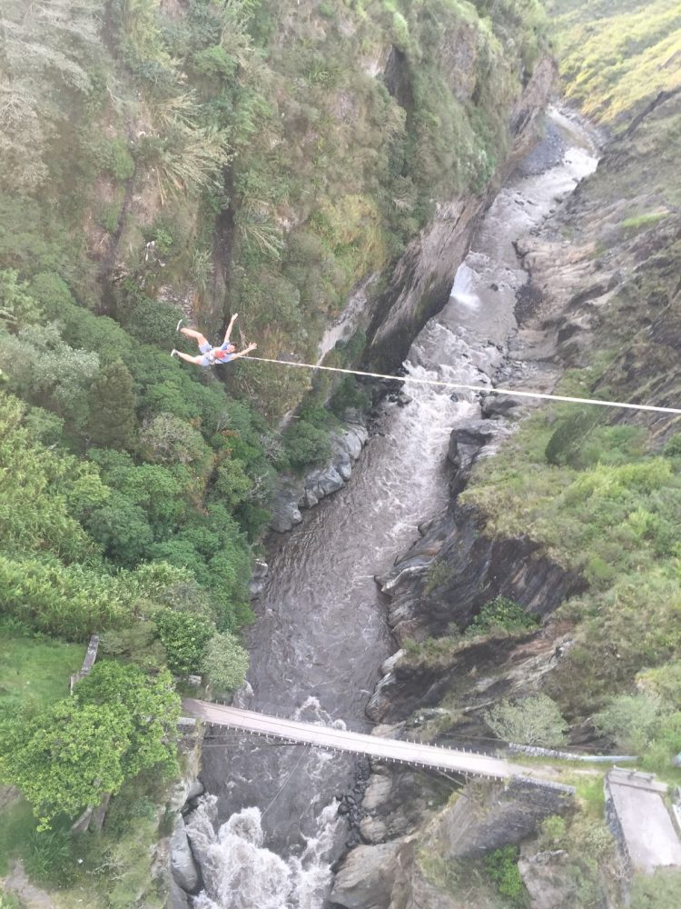 Bridge swing banos Ecuador
