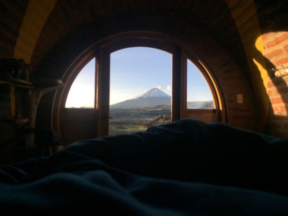Waking up in the hobbit hole Ecuador