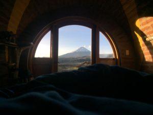 Waking up in the hobbit hole Ecuador
